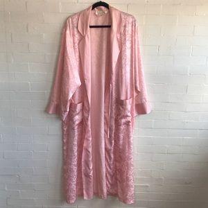 Vintage Victoria Secret Rose Brocade Robe